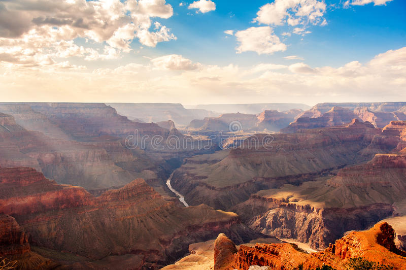 The grand canyon. At sunset stock images