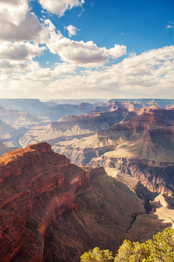 The grand canyon. At sunset royalty free stock photo