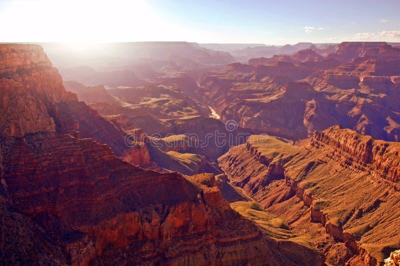 Grand Canyon sunset stock photos