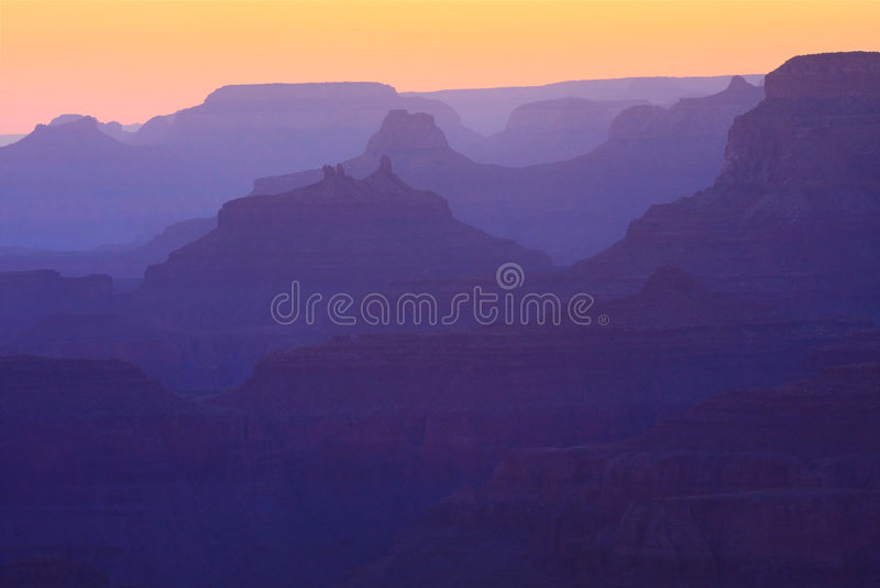 Grand Canyon Sunset Royalty Free Stock Image