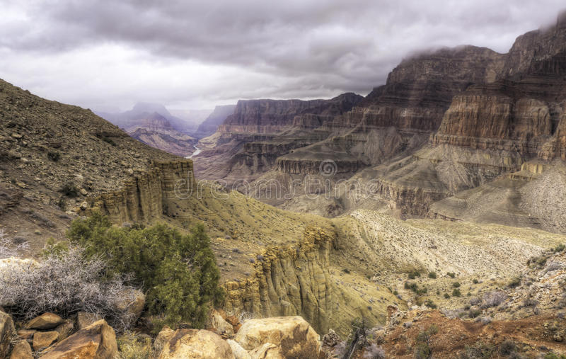 Grand Canyon from the Tanner Trail royalty free stock photos