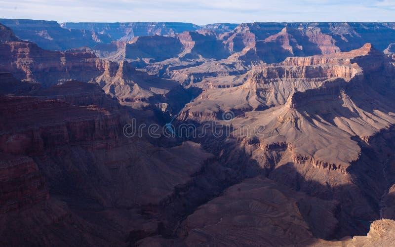 Grand Canyon und der Colorado stockfotos