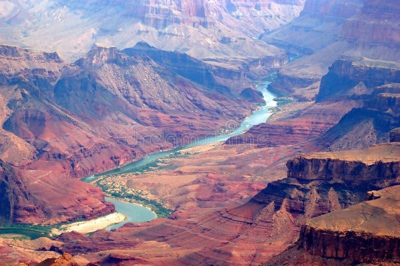 Grand Canyon und Kolorado-Fluss lizenzfreie stockbilder
