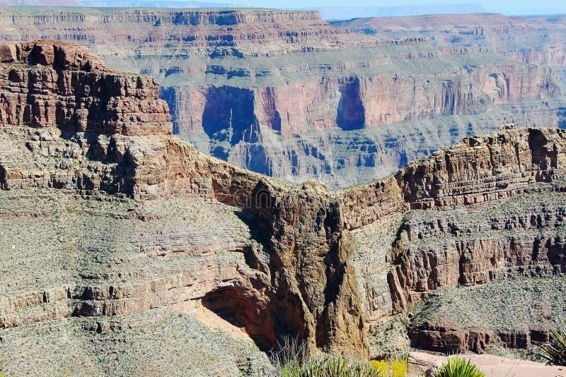 Grand Canyon västra berömda Eagle Point härlig gjord naturvektor för bakgrund royaltyfri fotografi
