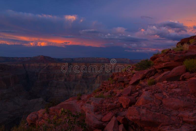 Grand Canyon västra Rim Guano Point royaltyfria bilder