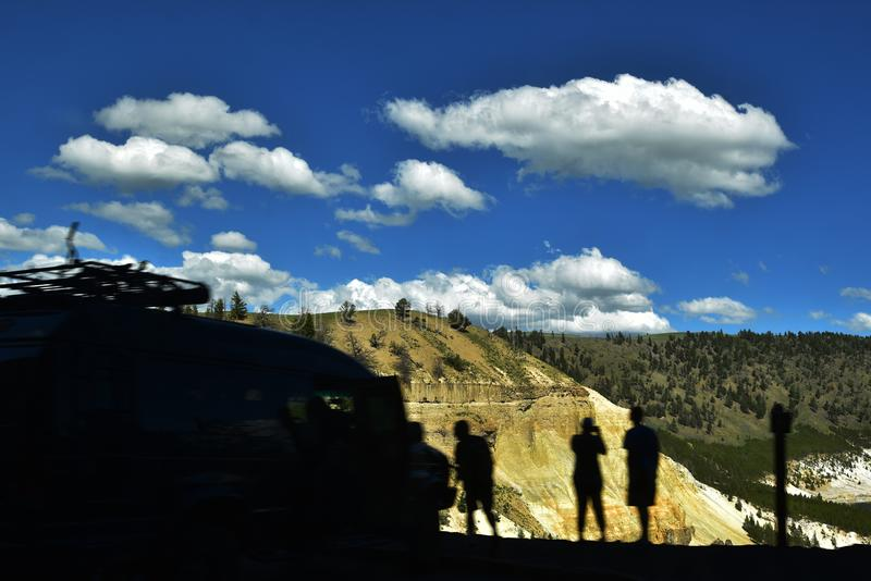 Grand Canyon van het Yellowstone-Park royalty-vrije stock fotografie