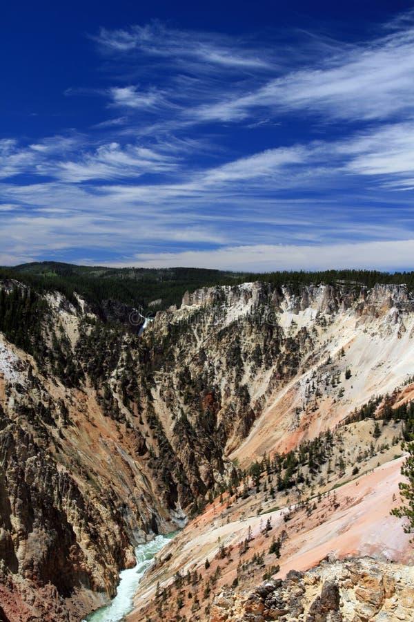 Grand Canyon van Yellowstone in het Nationale Park van Yellowstone in Wyoming royalty-vrije stock fotografie