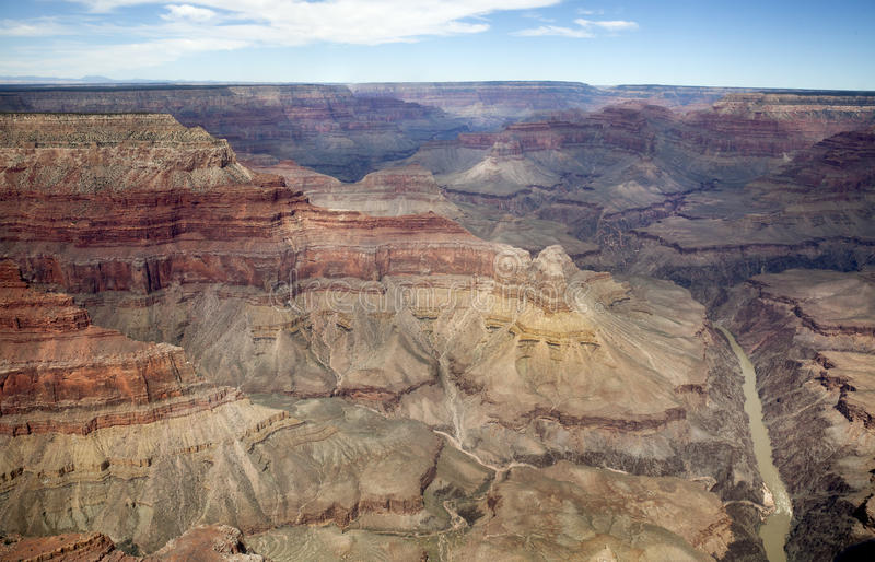 Grand Canyon Vista. One of the many viewpoints over the Grand Canyon stock photography
