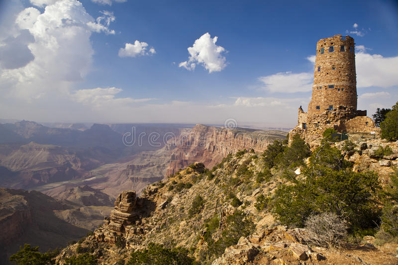 Grand Canyon Watch Tower Stock Images