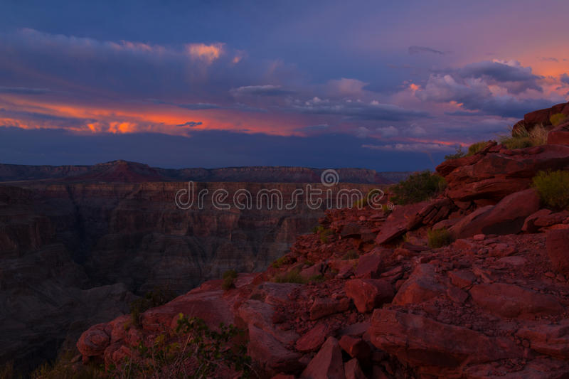 Grand Canyon West-Rim Guano Point lizenzfreie stockbilder