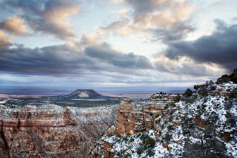 Grand Canyon Winter Royalty Free Stock Images