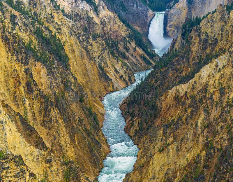 Grand Canyon of the Yellowstone, Wyoming stock photos