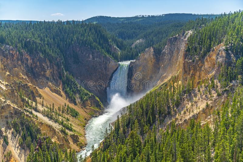 Grand Canyon of the Yellowstone, Wyoming royalty free stock photos