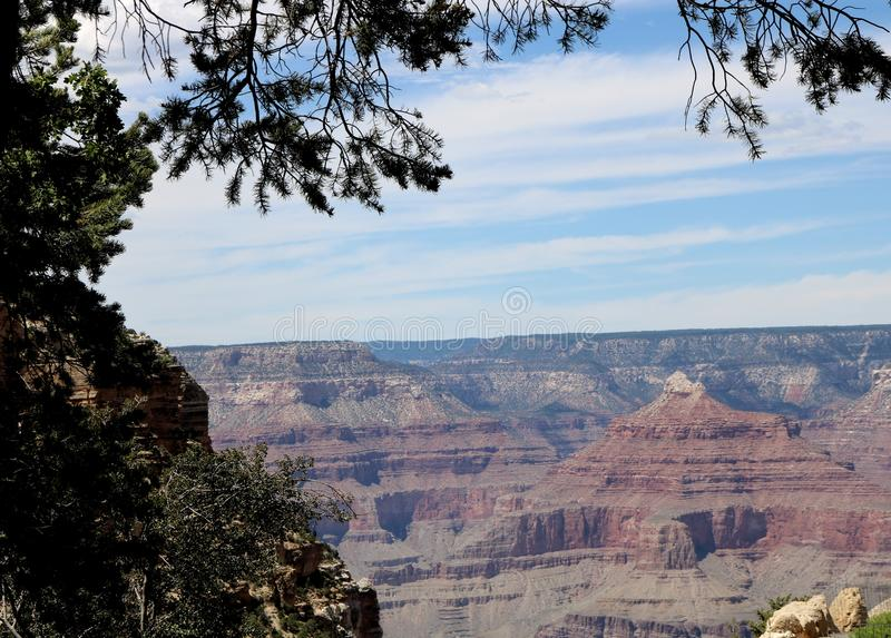 Grand Canyon -zuidenrand royalty-vrije stock afbeeldingen
