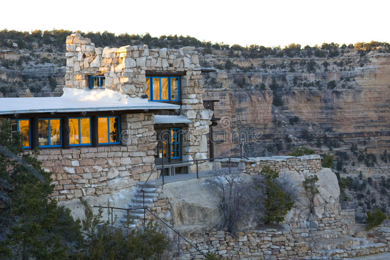 Grand- Canyonarizona-Haus lizenzfreie stockfotografie