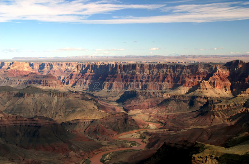Grand- CanyonLuftaufnahme lizenzfreie stockfotografie