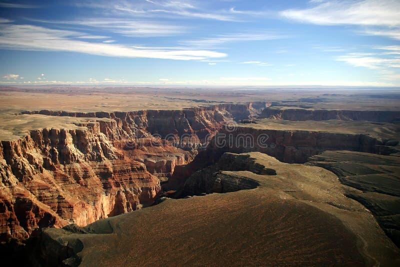 Grand- CanyonLuftaufnahme lizenzfreie stockfotos