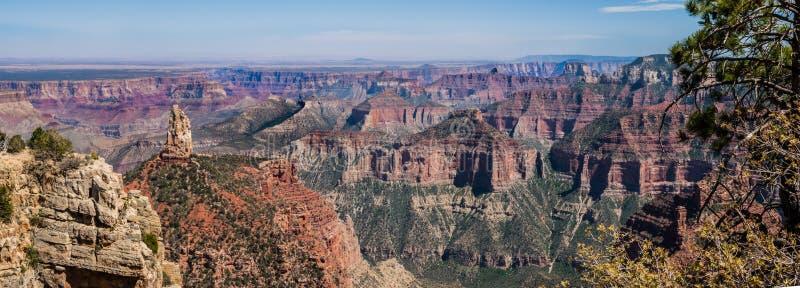 Grand Canyonpanorama stockfoto