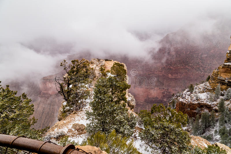 Grand Canyons in snow royalty free stock image
