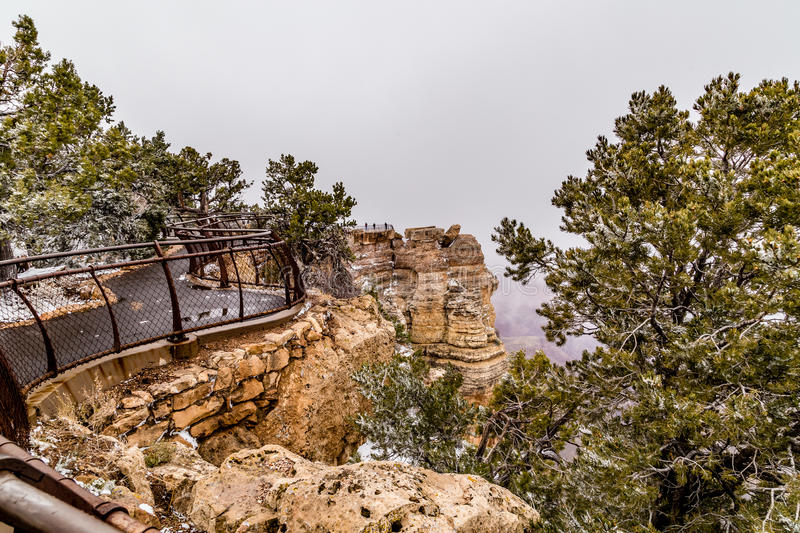 Grand Canyons in snow royalty free stock photos
