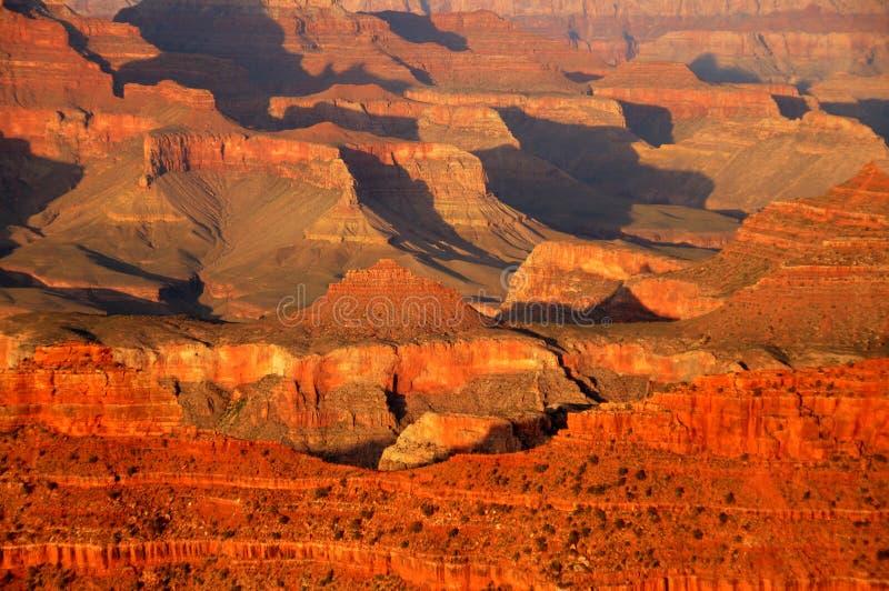 Grand- Canyonsonnenuntergang stockfotos