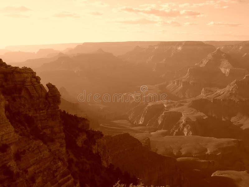 Grand Canyonsonnenuntergang lizenzfreies stockfoto