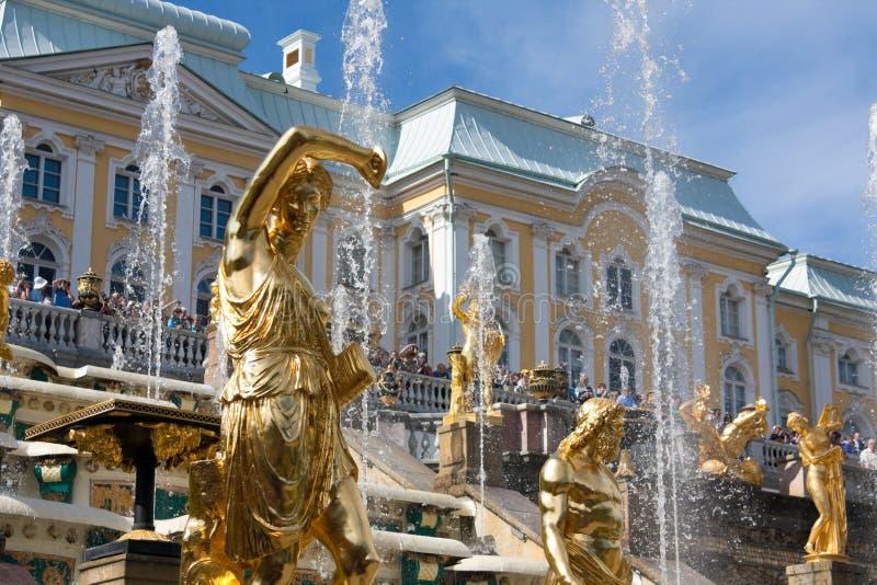 Grand Cascade Fountains in Peterhof