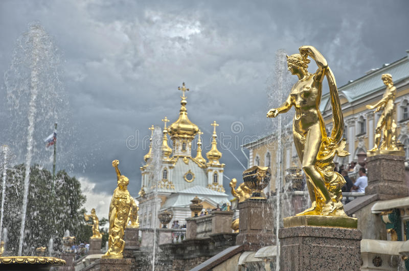 Download Grand Cascade Fountains In Peterhof Palace Stock Photo - Image: 25981962