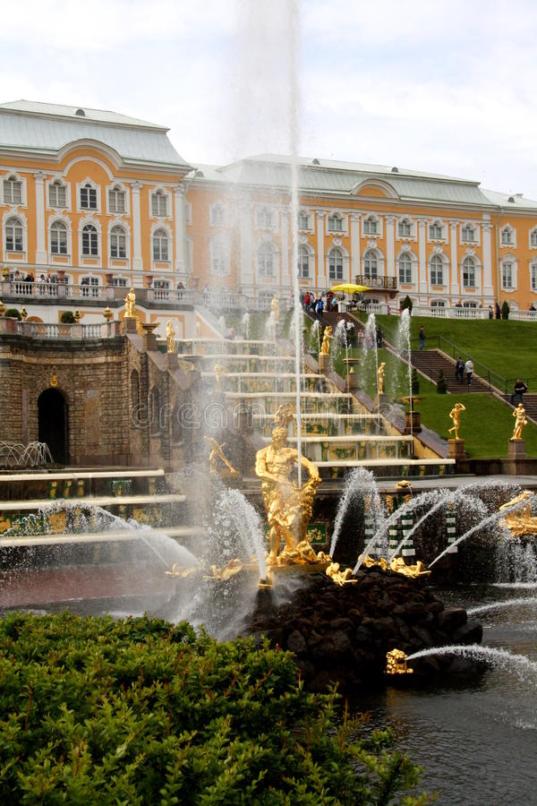 Grand Cascade in Peterhof royalty free stock photo