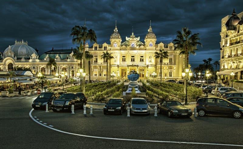 The grand casino in Monaco. MONTE CARLO, MONACO - MAY 1: Front of the Grand Casino on May 1, 2013 in Monte Carlo, Monaco. The Casino is one of the most notable royalty free stock image