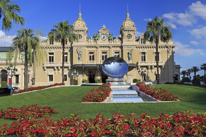 The Grand Casino in Monte Carlo, Cote d` Azur, France stock images