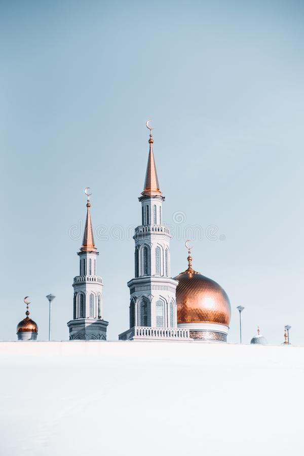 The Grand Cathedral Mosque during winter stock photography