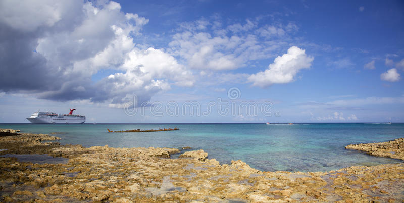 Grand Cayman Panorama royalty free stock image