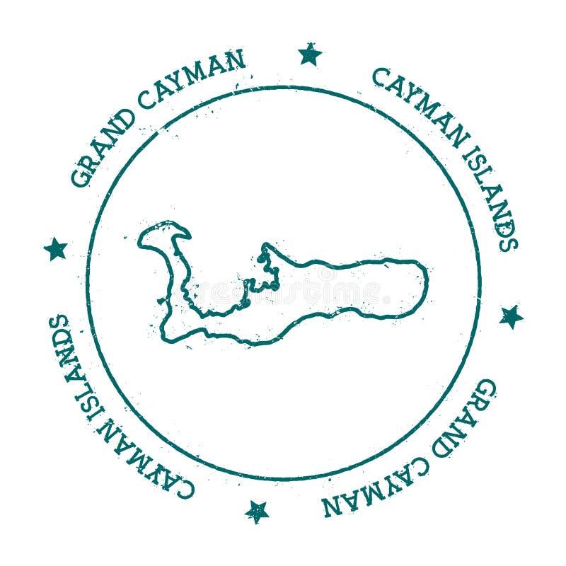 Grand Cayman vector map. stock illustration
