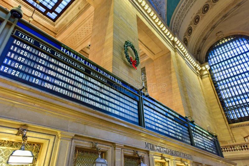 Grand Central -Anschluss- NYC lizenzfreie stockfotos