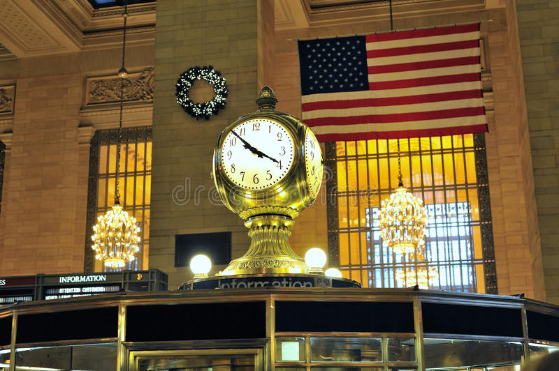 Download Grand central clock stock photo. Image of station, subway - 17883020