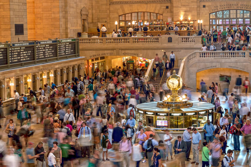 Grand Central Commuters stock photo