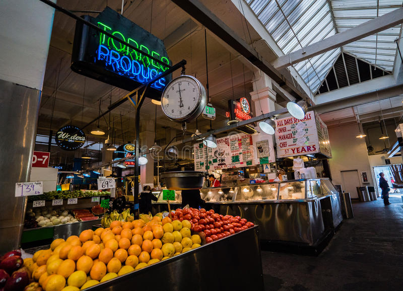 Grand Central Market fruit stand royalty free stock photos