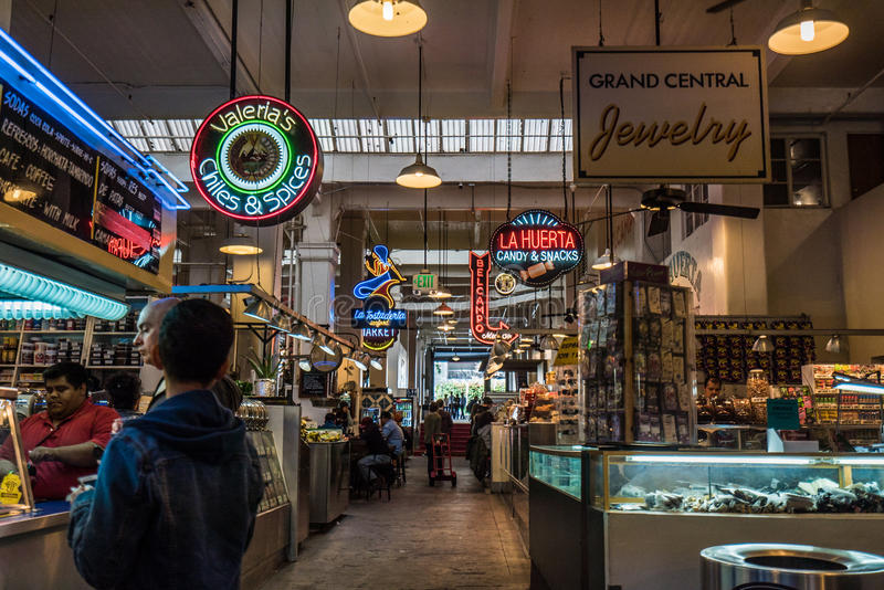 Grand Central Market interior stock images