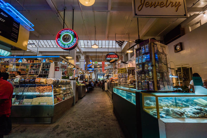 Grand Central Market interior royalty free stock image