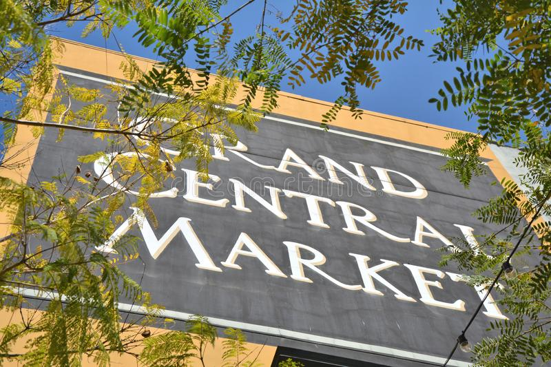 Grand Central Market in Los Angeles city center royalty free stock photos