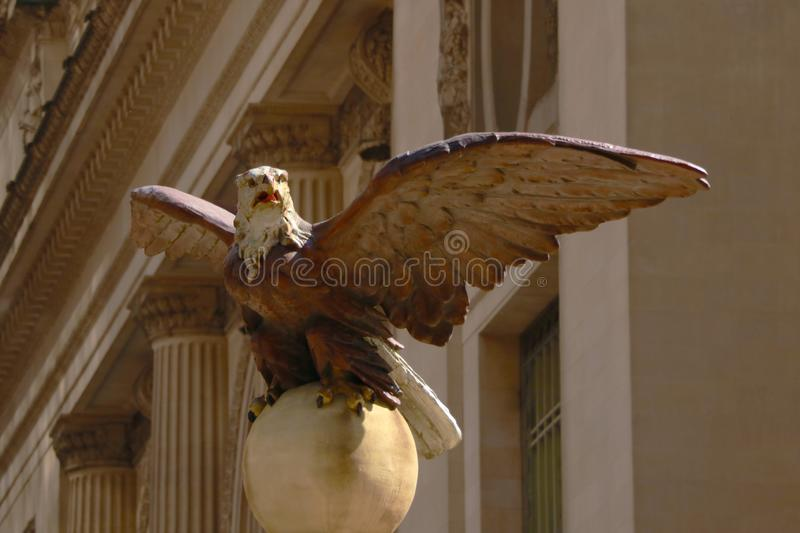 Grand Central railroad terminal at 42nd Street and Park Avenue in Midtown Manhattan in New York City, Eagle Statue stock photography