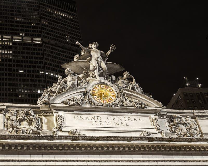 Grand Central slutlig metall tonad klocka royaltyfri bild