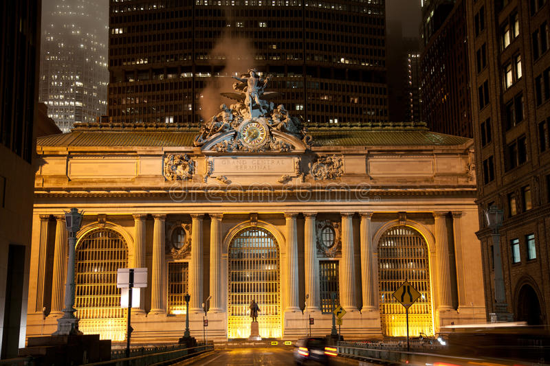 Grand Central Station. New York City at night royalty free stock photography