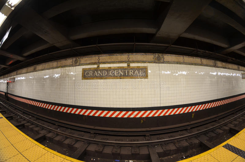 Grand Central Station Subway Stop royalty free stock images