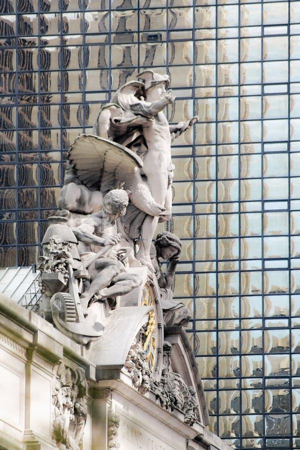 Grand Central -Stationsskulptur auf 42. Straße stockfotografie