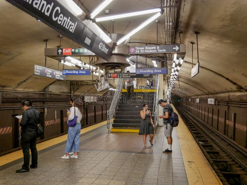 Grand Central Subway Station royalty free stock photo