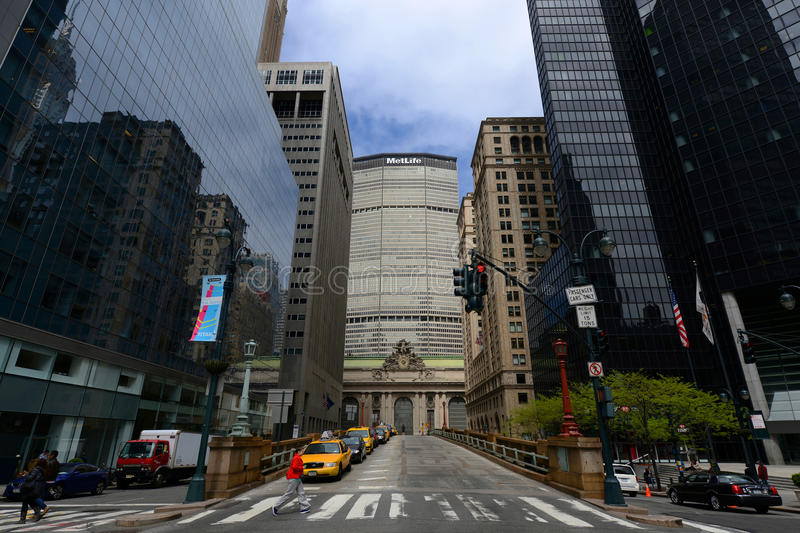 Grand Central Terminal and MetLife Building, New Yor City stock images