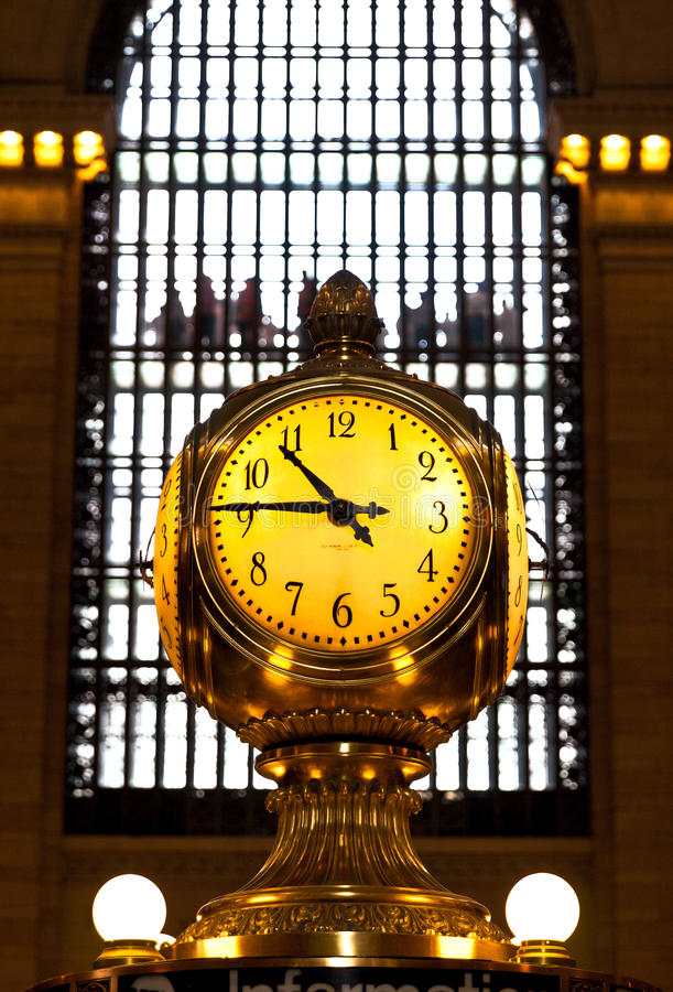 Grand Central terminal clock, New York City stock images