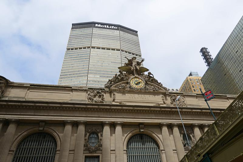 Grand Central Terminal and MetLife Building, New Yor City royalty free stock photography